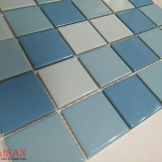 Mosaic Gốm Sứ trộn màu 48x48x6mm MSG480609