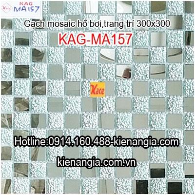 Gạch mosaic thủy tinh 25x25mm KAG-MA157