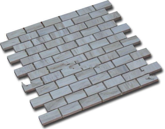 Mosaic đá tự nhiên màu trắng vân gỗ MR-1.08/B