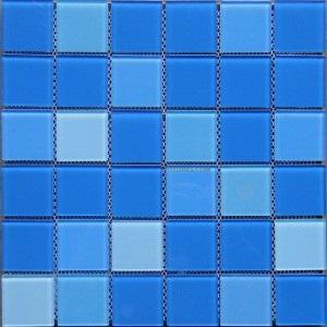 Gạch Mosaic thủy tinh kích thước 48x48x4mm YG48001