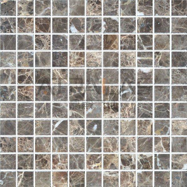 Gạch mosaic đá cẩm thạch Trung Quốc kích thước 25x25x8mm EMC002