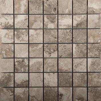 Đá trang trí mosaic màu vàng socola kích thước vỉ 35x35mm S03