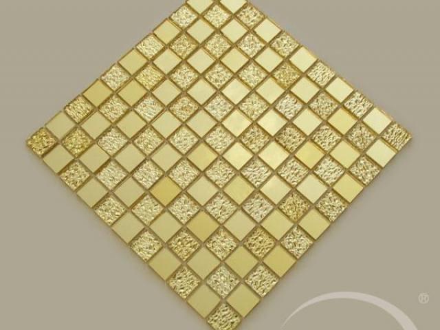Gạch mosaic màu vàng đậm hoa văn AL103
