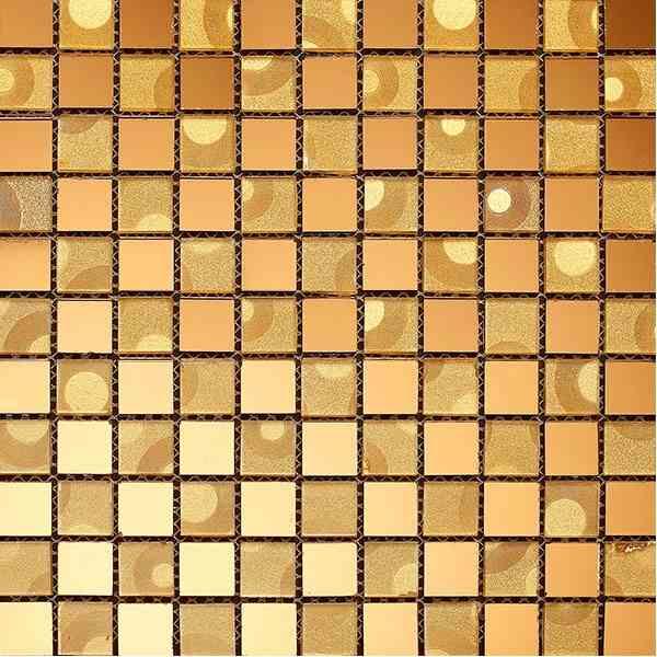 Gạch mosaic màu vàng gold trà AL106
