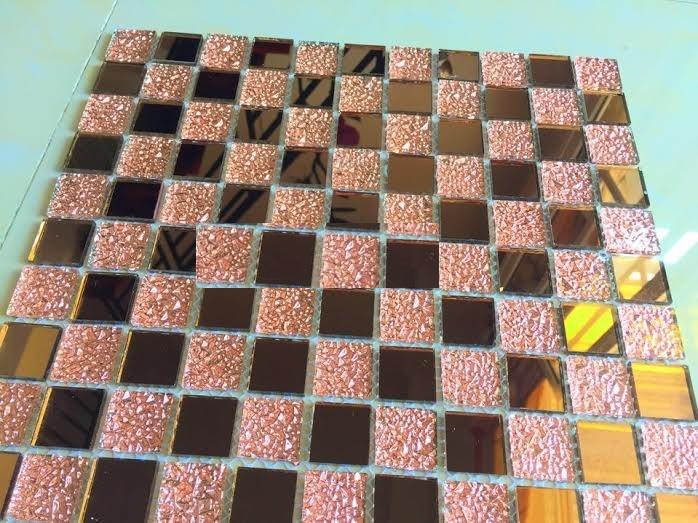 Gạch mosaic màu nâu trà cao cấp kích thước 30x30mm AL108