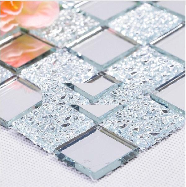 Gạch mosaic thủy tinh hoa văn màu trắng kích thước 30x30mm AL101