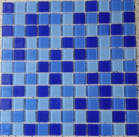 Gạch mosaic ốp bể bơi kích thước vỉ 300x300mm HB16