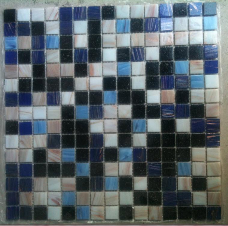 Gạch mosaic ốp bể bơi kích thước vỉ 300x300mm HB26