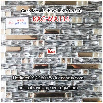 Gạch Mosaic thủy tinh cao cấp 25x25mm KAG-MA134