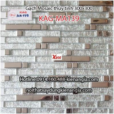 Gạch Mosaic thủy tinh cao cấp KAG-MA139