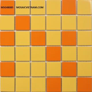 Mosaic gốm sứ trộn màu 48x48x6 MSG48085