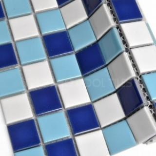 Gạch tráng men bể bơi kích thước 25x25mm K1001