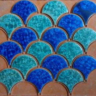 Gạch mosaic gốm hình vảy cá #75 300 x 300mm