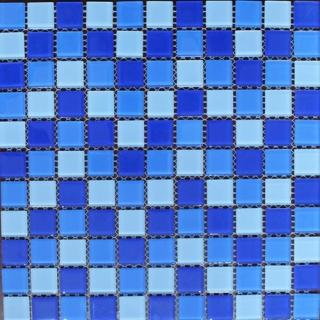 Mosaic thủy tinh trôn màu 25X25X4 MST25029