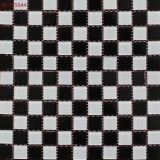 Mosaic thủy tinh trôn màu kích cỡ 25X25X4 MST25044