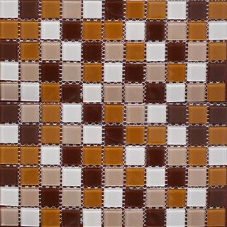 Mosaic thủy tinh trôn màu 25X25X4 MST25078