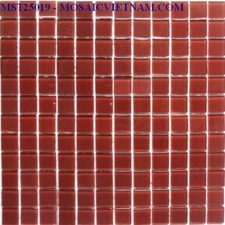 Mosaic thủy tinh đơn màu 25X25X4 MST25019