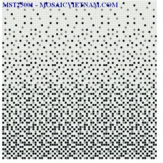 Mosaic thủy tinh dải màu 25X25X4 MST25001