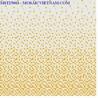 Mosaic thủy tinh dải màu 25X25X4 MST25003