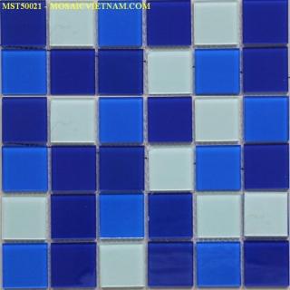 Mosaic thủy tinh trộn màu kích thước 50x50x4mm