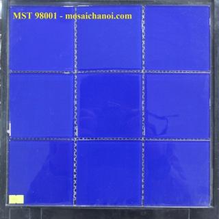 Mosaic thủy tinh đơn màu 98x98x4mm MST98001