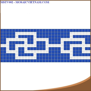 Mosaic thủy tinh tạo hoa văn MSTV002