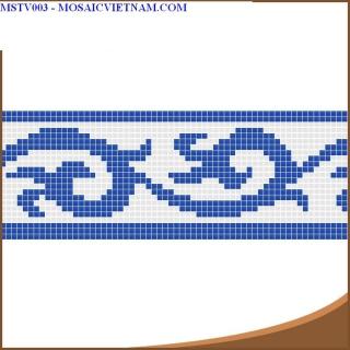 Mosaic thủy tinh tạo hoa văn MSTV003