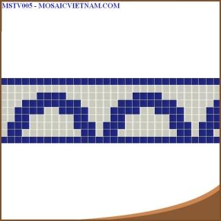 Mosaic thủy tinh tạo hoa văn MSTV005