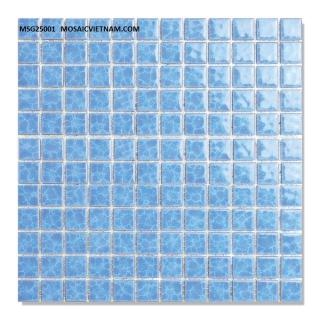 Mosaic Gốm Sứ 25x25x4mm MSG25001