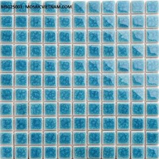 Mosaic Gốm Sứ đơn màu 25x25x4mm MSG25003