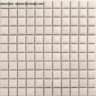 Mosaic Gốm Sứ đơn màu 25x25x4mm MSG25004