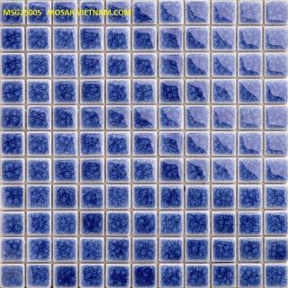 Mosaic Gốm Sứ đơn màu 25x25x4mm MSG25005