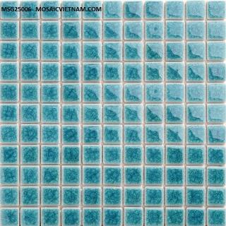 Mosaic Gốm Sứ đơn màu 25x25x4mm MSG25006