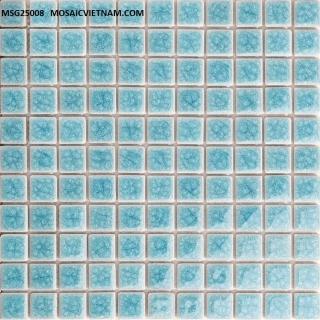 Mosaic Gốm Sứ đơn màu 25x25x4mm MSG25008
