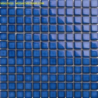Mosaic Gốm Sứ đơn màu 25x25x4mm MSG25010