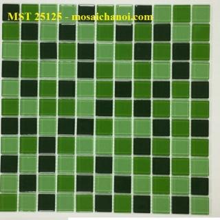 Mosaic Gốm Sứ trộn màu 25x25x4mm MST25125