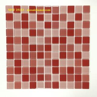 Mosaic Gốm Sứ trộn màu 25x25x4mm MST25123