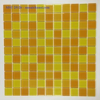 Mosaic Gốm Sứ trộn màu 25x25x4mm MST25126
