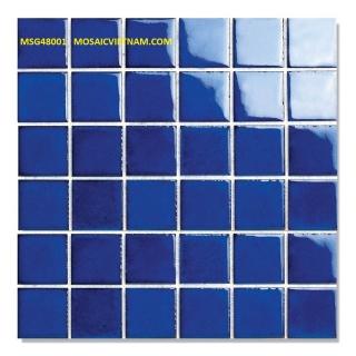 Mosaic Gốm Sứ đơn màu 48x48x6mm MSG48001