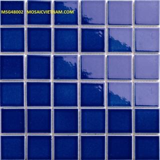 Mosaic Gốm Sứ đơn màu 48x48x6mm MSG48002