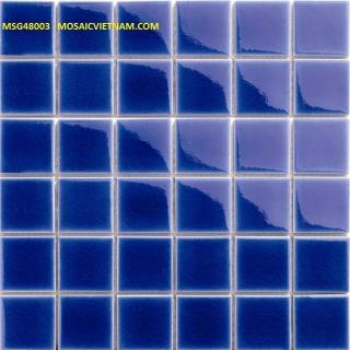 Mosaic Gốm Sứ đơn màu 48x48x6mm MSG48003