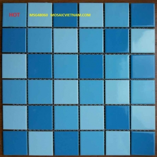 Mosaic Gốm Sứ trộn màu 48x48x6mm MSG48060