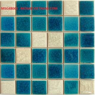 Mosaic Gốm Sứ trộn màu 48x48x6mm MSG48061