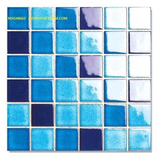 Mosaic Gốm Sứ trộn màu 48x48x6mm MSG48062