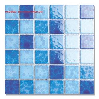Mosaic Gốm Sứ trộn màu 48x48x6mm MSG48063