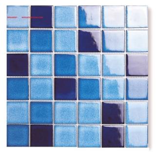 Mosaic Gốm Sứ trộn màu 48x48x6mm MSG48067