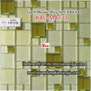 Gạch Mosaic thủy tinh cao cấp 25x25mm KAG-MA131