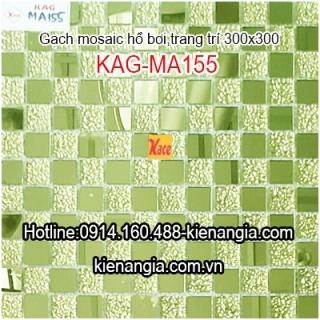 Gạch mosaic thủy tinh 25x25mm KAG-MA155