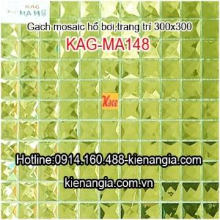 Gạch mosaic thủy tinh 25x25mm KAG-MA148