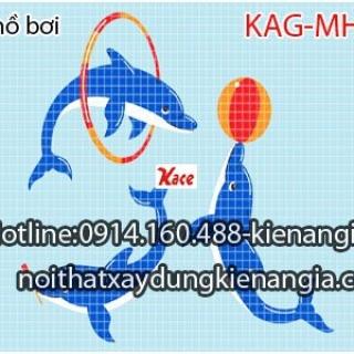 Gạch mosaic hồ bơi KAG-MHB04